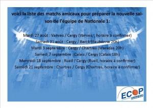 Matchs Amicaux N1