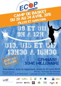 Affiche ECOP stage avril 2015