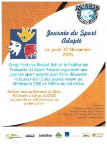 Affiche CPBB sport adapté 12112015